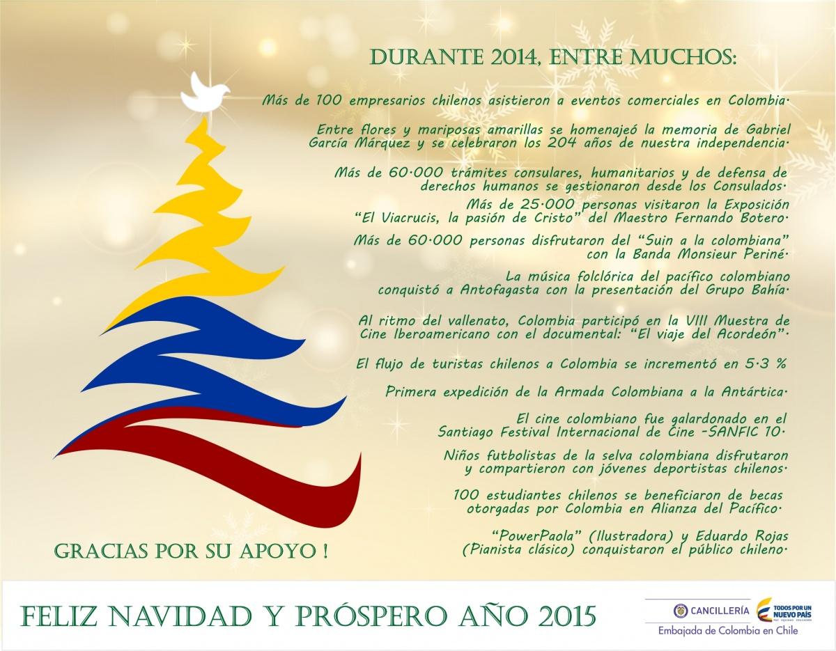 Mensaje de navidad y a o nuevo de la embajada de colombia - Mensajes para navidad y ano nuevo ...
